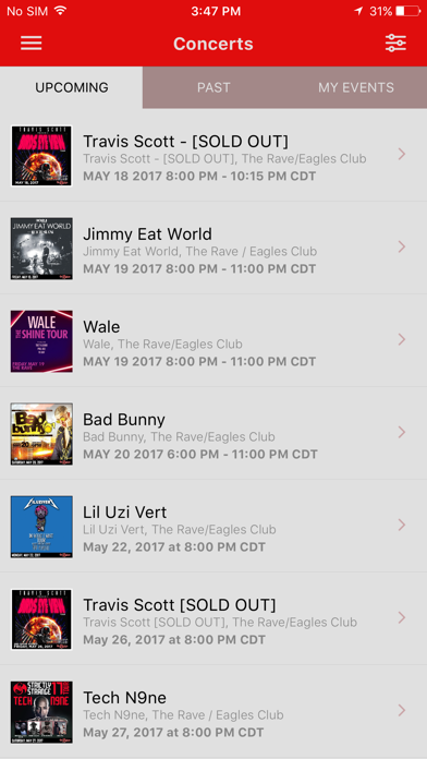 The Rave Eagles Club App Screenshot 2