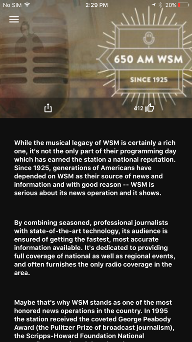 WSM Radio App Screenshot 4