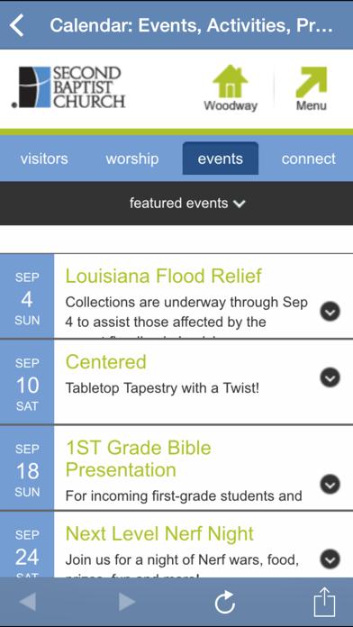 Second Baptist Church App Screenshot 2