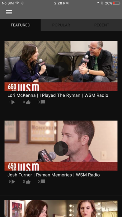WSM Radio App Screenshot 2