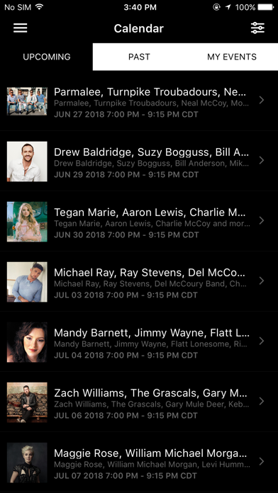 Grand Ole Opry App Screenshot 2